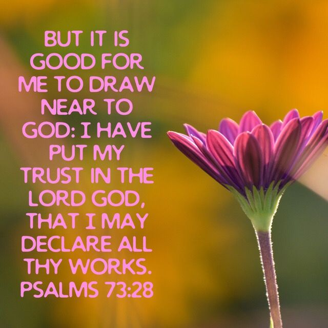 Psalm 73:28 | Psalms, Bible apps, Inspirational quotes