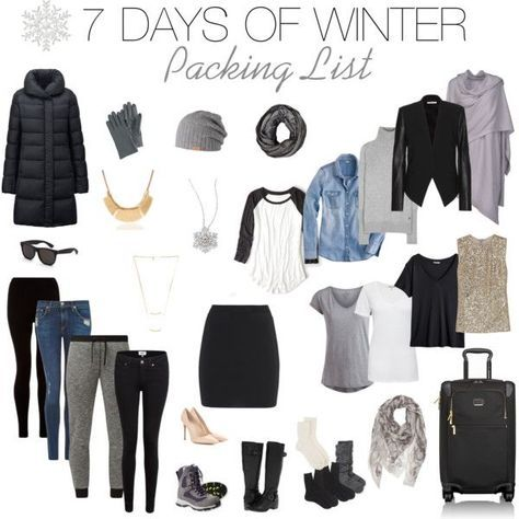 Ultimate Winter Packing List. 7 Days.
