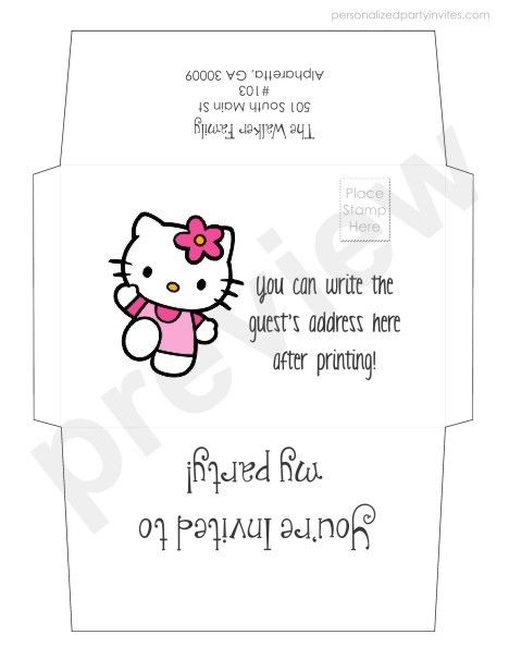 20 Best Invitations Images On Pinterest | Hello Kitty Birthday