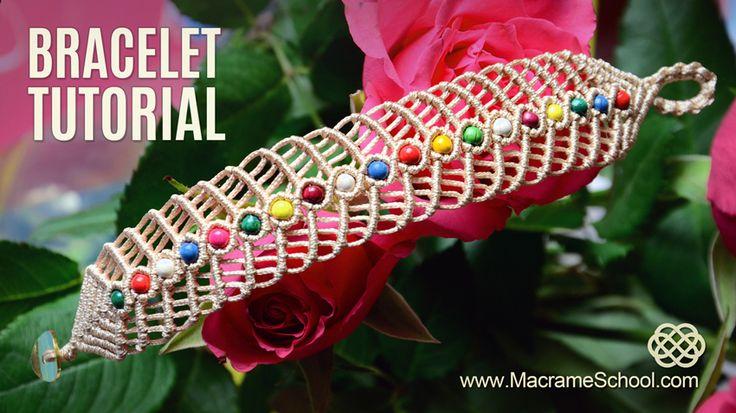 Macrame Herringbone Bracelet Tutorial                                                                                                                                                                                 More