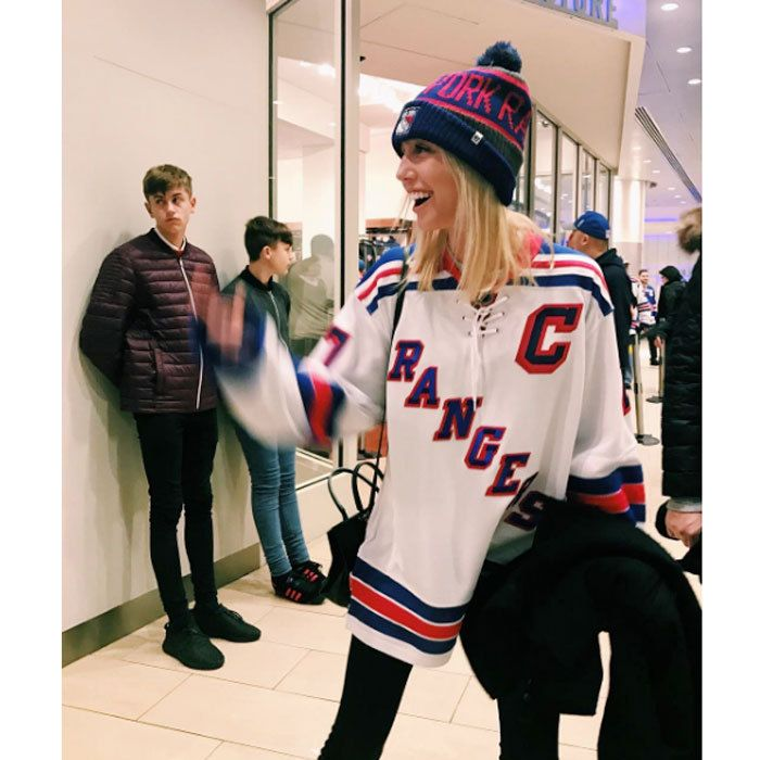 "Princess Olympia donned her New York Rangers hockey gear for a Sunday game with her family. Alongside the Instagram photo, the Greek royal admitted, ""Number one fan over here."""