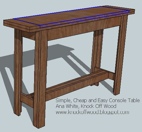 Ana White | Build a Simple, Cheap and Easy Console Table | Free and Easy DIY Project and Furniture Plans. Hallway table