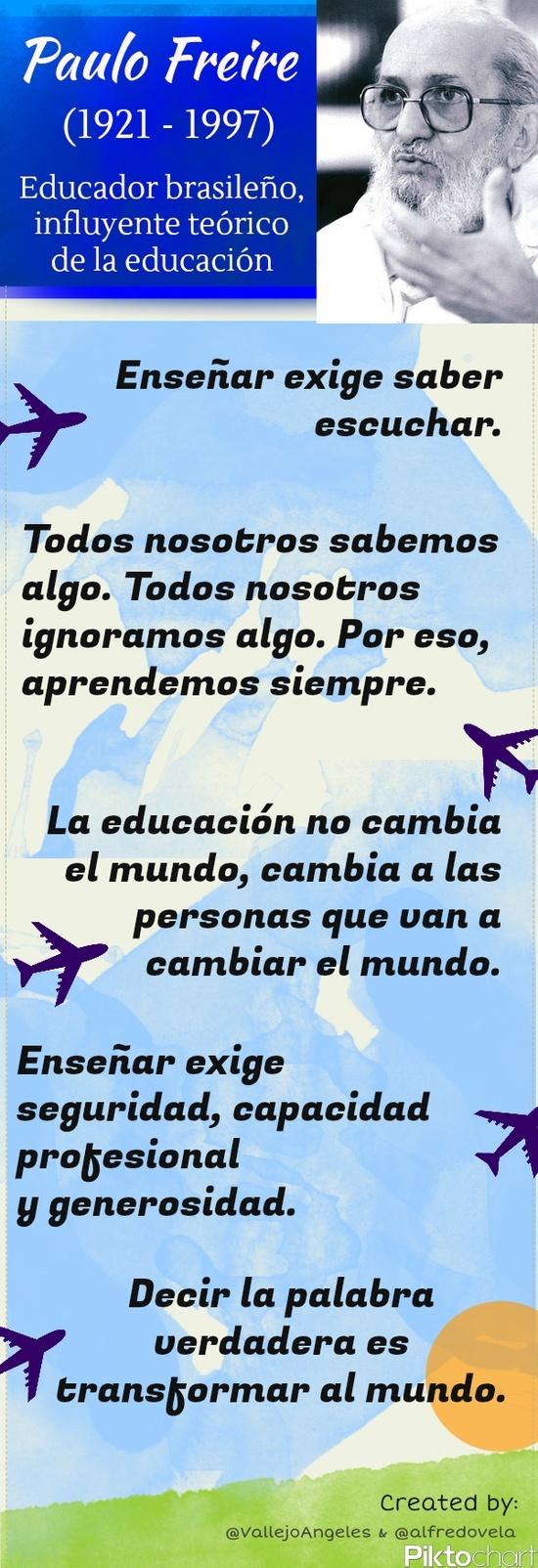 Filosofia de la vida por Paulo Freire.