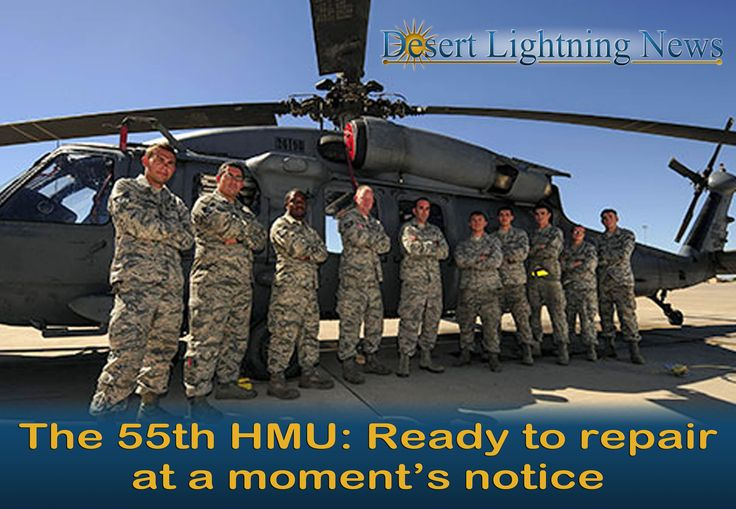 Davis-Monthan AFB News:  Airmen from the 55th Helicopter Maintenance Unit pose in front of an HH-60G Pave Hawk at Davis-Monthan Air Force Base, Ariz., Sept. 21, 2017. The 55th HMU performed an engine swap on mountainous terrain in less than 48 hours after an in-flight emergency.