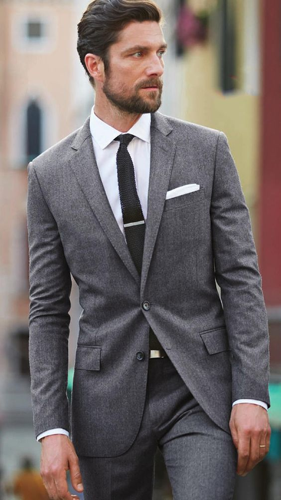 The 25  best Men's grey suits ideas on Pinterest | Mens fashion ...