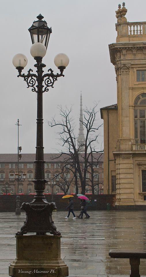 Piazza Castello #Torino #pioggia