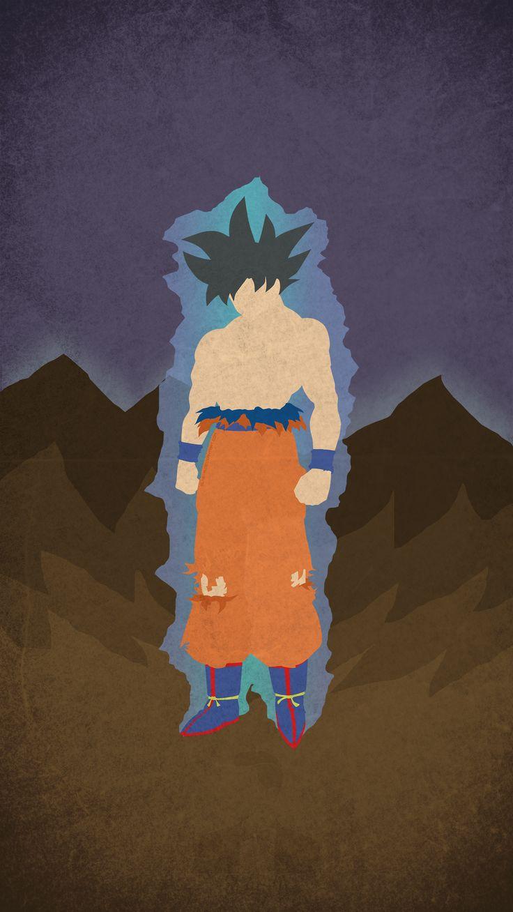 [OC] Ultra Instinct Goku Minimal Mobile Wallpaper : dbz