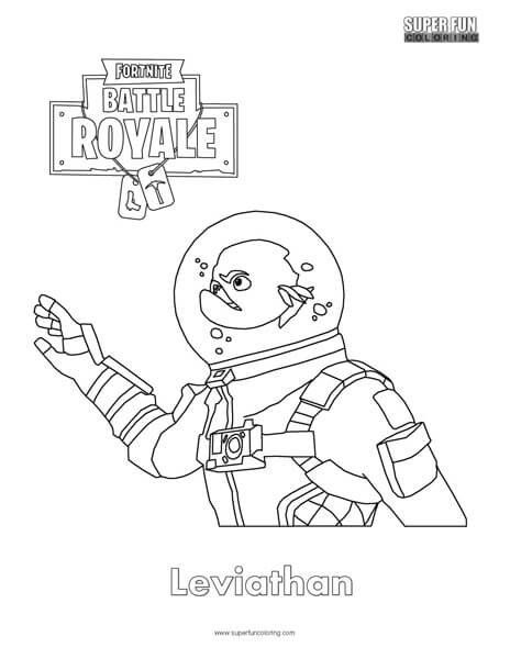 Fortnite Leviathan Skin Coloring Page Fortnitebr Coloring Pages