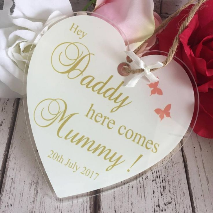 Hey Daddy here comes Mummy Acrylic Hanging Heart. Treat someone you love to one of these stunning hanging hearts, made from 3mm thick acrylic glass complete with ribbon/string ready to hang.