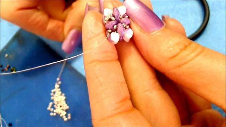 DIY tutorial modulo superduo o twin beads swarovski semplice,veloce Ital...