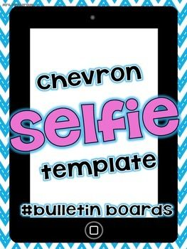 "FREE Chevron ""Selfie"" Bulletin Board for self portraits"