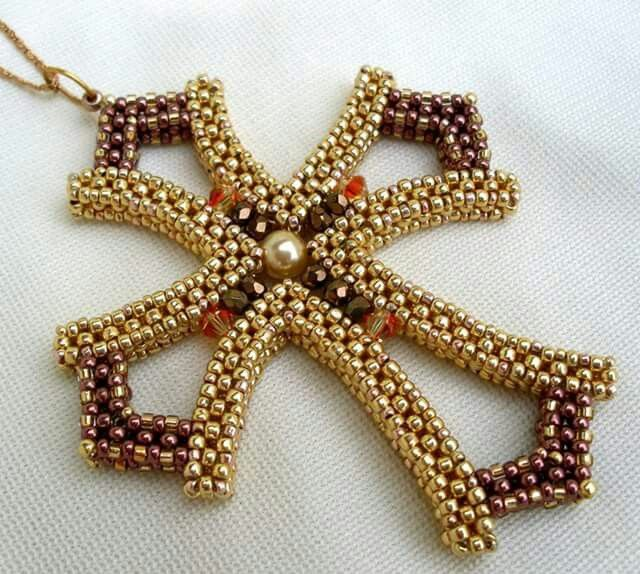 257 best beaded cross images on pinterest beaded cross seed beads craw cross made by marika nagyn aloadofball Choice Image