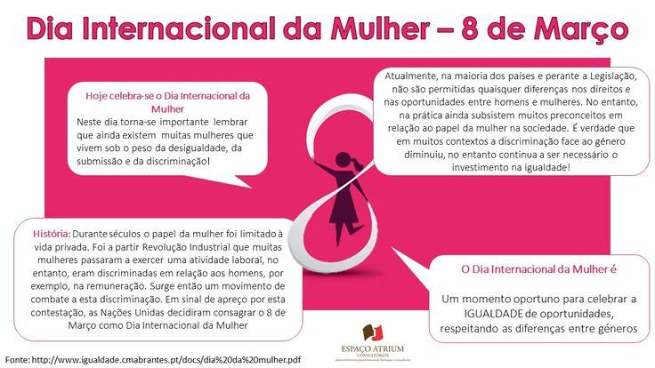 Dia 8 de Março – Dia Internacional da Mulher. Nesta publicação recorde a história e a importância da celebração deste dia. Um momento para celebrar a igualdade de oportunidades e direitos, bem como respeitar as diferenças de géneros.