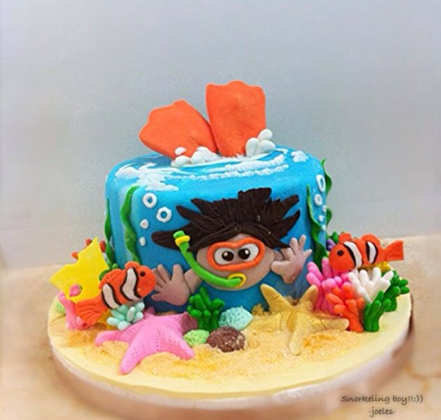 Snorkeling cake