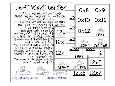 FREE left•right•center FULL SET MULTIPLICATION FACT PRACTICE GAME (facts 0-12) from My Little Classity Class available exclusively through Latter-Day Crafters!: Center Games, Facts Practice, Multiplication Facts, Games Facts, Fun Games, Multiplication Games, Applying Multiplication, Teacher Tuesday, 4Th Grade