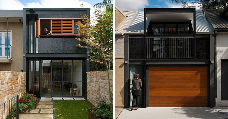 Carter Williamson Architects / A bold black and wood exterior was given to this terrace house in Sydney