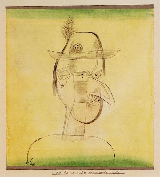 Titre de l'image : Paul Klee - Komische Figur aus einem bayrischen