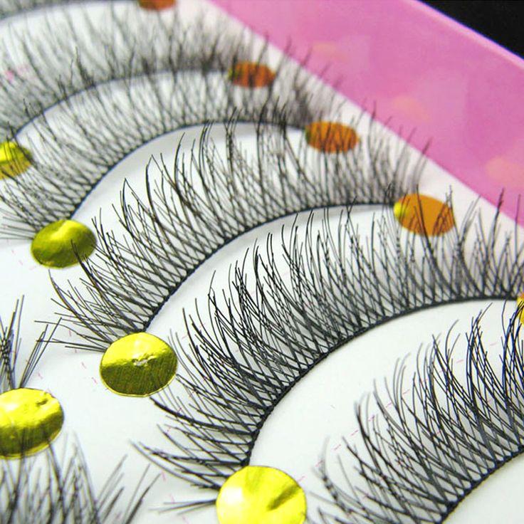 10 Par Hecho A Mano Natural a Largo Falsas Pestañas Extensiones de Pestañas Maquillaje Pestañas Falsas Baratas Pestañas Cilios Posticos