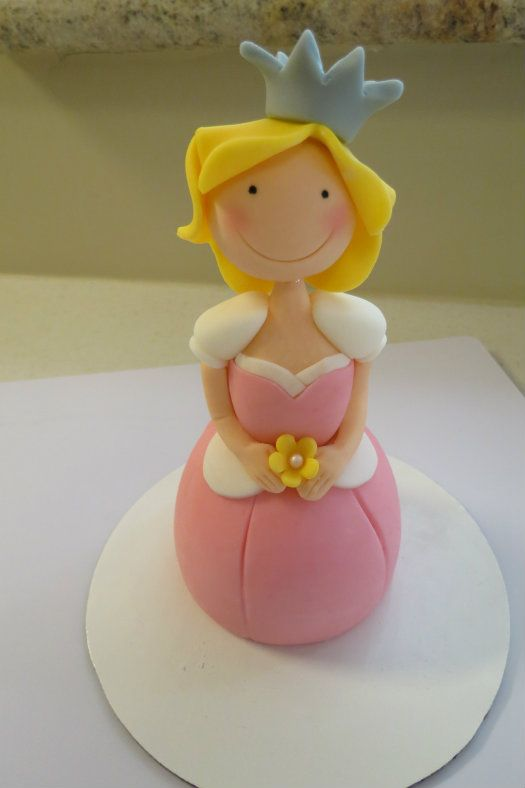 How to make a princess cake topper • CakeJournal.com