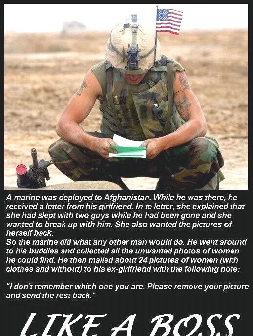 A Marine Was Deployed