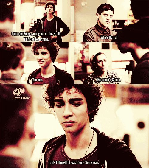 Misfits!  I miss Nathan!! The look on siimons face in  the last scene is  so sad i  felt so bad  for him