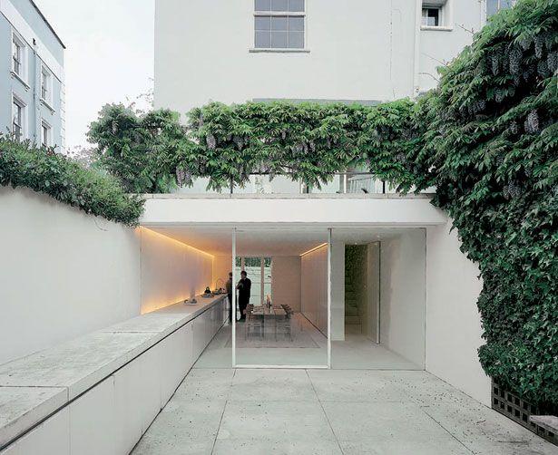John Pawson - Architect's own house in London, 1999. Photos (C) Todd Eberle, Hisao Suzuki.