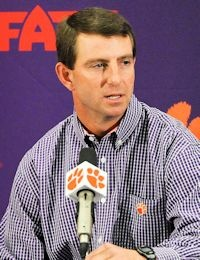 Dabo Swinney, Clemson Tigers, Head Football Coach. Is a man that believes in God, Family, Hard work and Team Work.