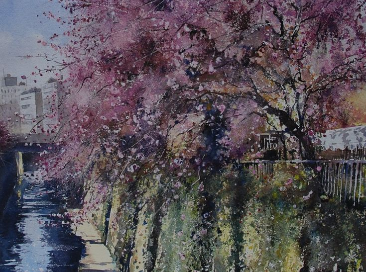 Gabrielle Moulding - Canal and Blossoms Meguro