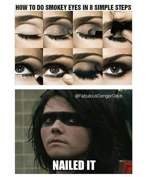 Woo Go Gee For Putting On Eyeliner Better Than Me My Chemical