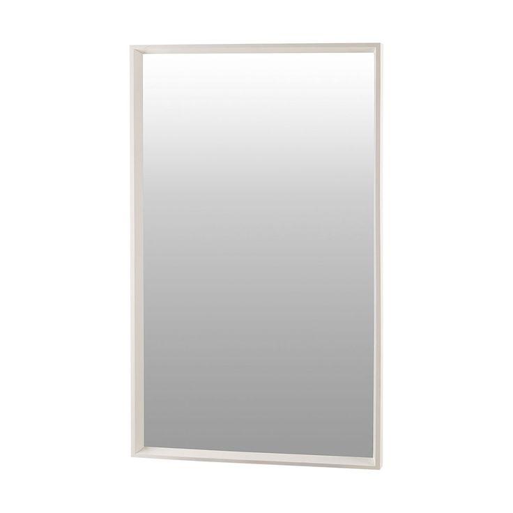 Oglinda dreptunghiulara lemn 100x60 cm alb Pro House Doctor