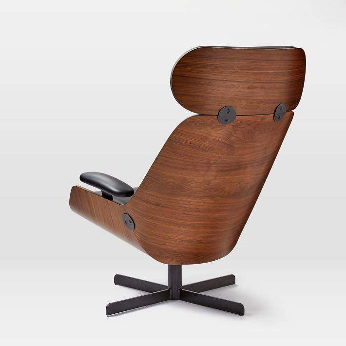 Enjoyable Malcolm Bentwood Leather Swivel Chair My Chair Crush In Pabps2019 Chair Design Images Pabps2019Com