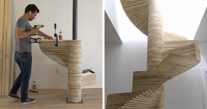 Ben uyeda cr ateur de homemade moderne a document le for Build your own spiral staircase