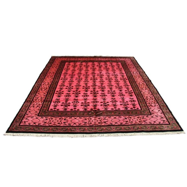 Antique Chinese Deco Hot Pink Overdyed Rug | From a unique collection of antique and modern chinese and east asian rugs at https://www.1stdibs.com/furniture/rugs-carpets/chinese-rugs/