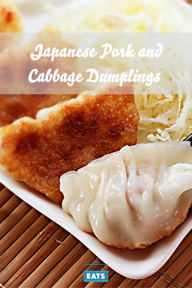 Classic Japanese-style pork and cabbage dumplings with a juicy, moist filling and a crisp-chewy wrapper.