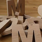 Wooden Letters Chunky