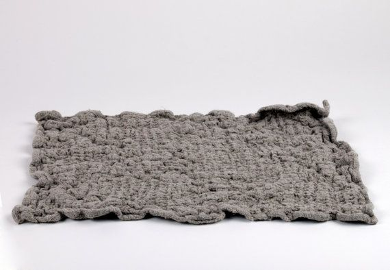 Linen Bath Mat / Bath Rug / Grey / Natural by NordicStyle on Etsy