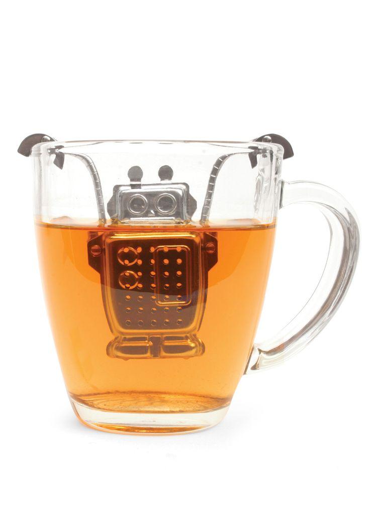 Robot Tea Infuser is 100% adorable. $15: Tea Time, Robots, Gift, Robottea, Teas, Products, Teainfuser, Tea Infuser
