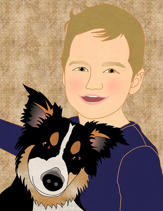 Custom family portrait family portrait family by catbrush on Etsy