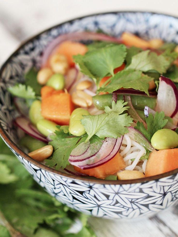 ber ideen zu reisnudelsalat auf pinterest nudel salate nudeln und salat. Black Bedroom Furniture Sets. Home Design Ideas