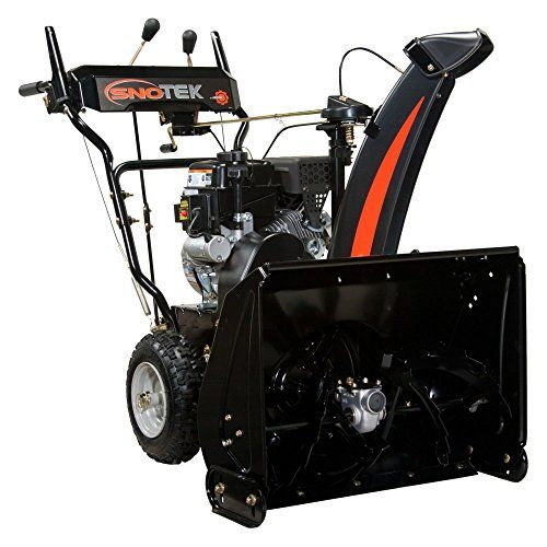 Ariens Sno-Tek 24 in. 2-Stage Electric Start Gas Snow Blower Dimensions: 44.75L x 30.13W x 31.5H in. Made from metal Weight: 204 lbs. https://homeandgarden.boutiquecloset.com/product/ariens-sno-tek-24-in-2-stage-electric-start-gas-snow-blower/
