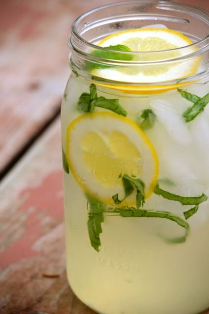 Basil Lemonade. Sounds refreshing!
