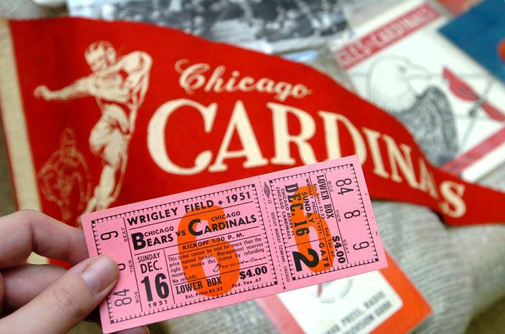 A ticket from the Bears vs. Cardinals game on December 16, 1951.   Sun-Times file photo