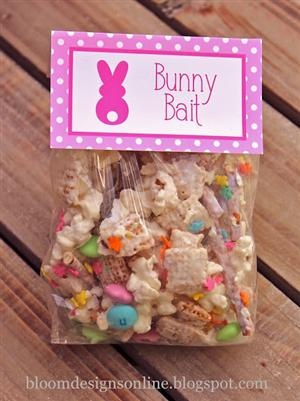 If Santa is left cookies and milk at Christmas, why shouldn't the Easter Bunny have snacks too? ~