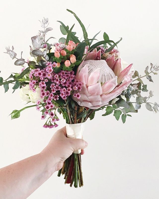 Protea Wedding Flowers: King Protea Wedding Bouquet From Pompette Events Www