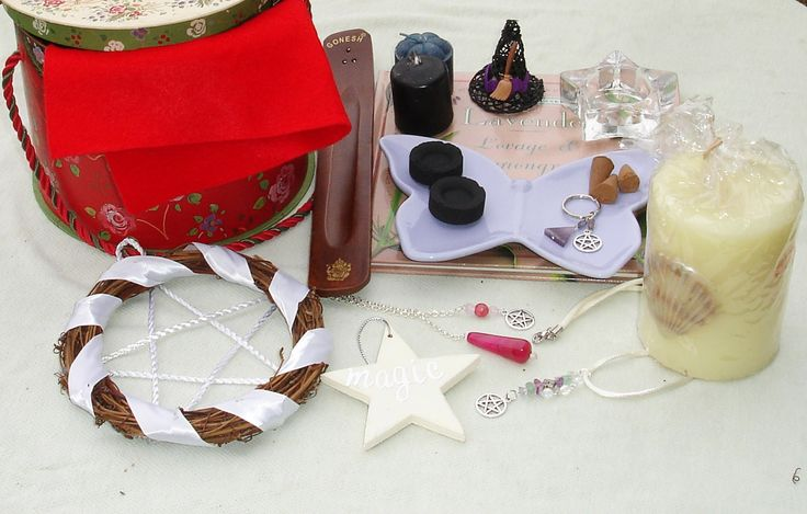 Pagan Wiccan Witch Box Starter Kit - Traveling Altar