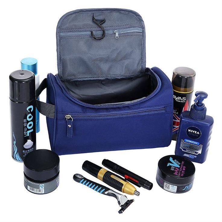 Waterproof Men Hanging Makeup Bag Nylon Travel Organizer Cosmetic Bag for Women Large Necessaries Make Up Case Wash Toiletry Bag