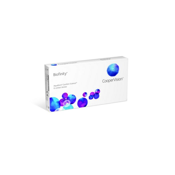 CooperVision Contact Lenses Biofinity - 6 Pack. Price:$49.95. Brand:CooperVision Contact Lenses. Packaging:6 Lenses per Box