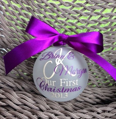 Our First Christmas Ornament by CraftsbyE on Etsy, $15.50