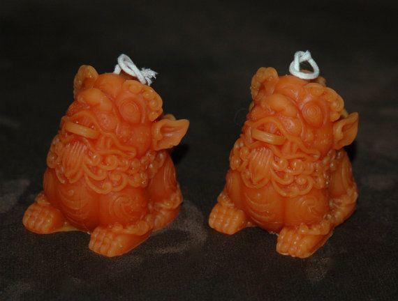 Drago cinese cera d'api candela Set  Lucky Dragon di AmiryasGarden