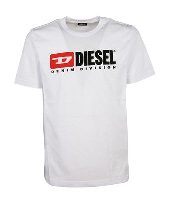 33655624 DIESEL DIESEL MEN'S 00SH0I0CATJ100 WHITE COTTON T-SHIRT. #diesel #cloth #